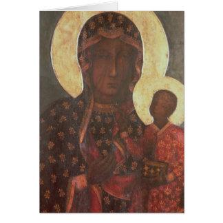 Den svart Madonnaen av Jasna Gora Hälsningskort
