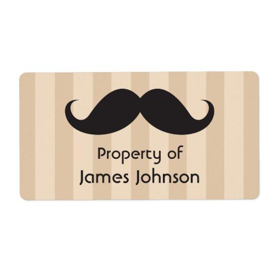 Den svart mustaschen på brunt görar randig egendom fraktsedel