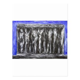 Den svart parthenonen (arkitektonisk surrealism) vykort