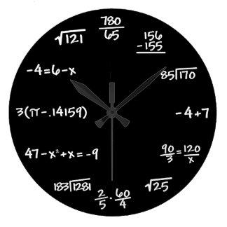 Den svart tavlan för matematik tar tid på - stor klocka