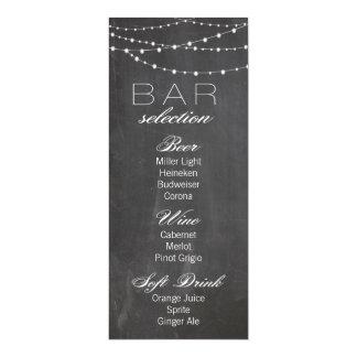 Den svart tavlan och stränger ljus som gifta sig 10,2 x 23,5 cm inbjudningskort