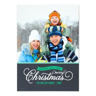 Den svart tavlan skrivar julfotokortet 12,7 x 17,8 cm inbjudningskort