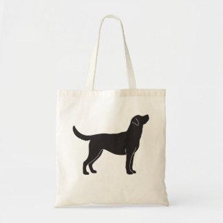 Den svart totot för Silhouette för hund för den Tygkasse