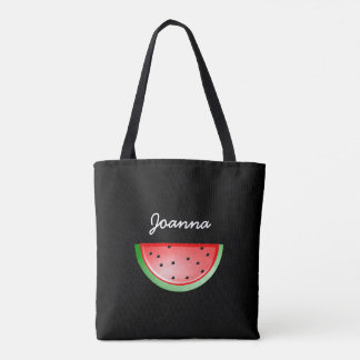 Den svart vattenmelonen som ut lagar mat, tygkasse