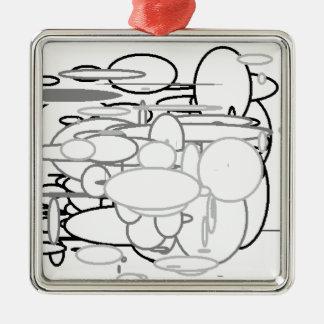 Den svart vitgrå färg cirklar, Digital konst av Julgransprydnad Metall