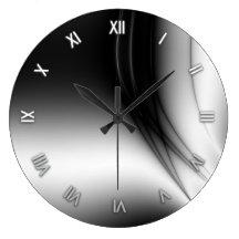 Den svartvita bred flodmynningväggen tar tid på klocka