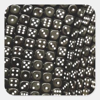 Den svartvita tärningen strukturerar väggen fyrkantigt klistermärke