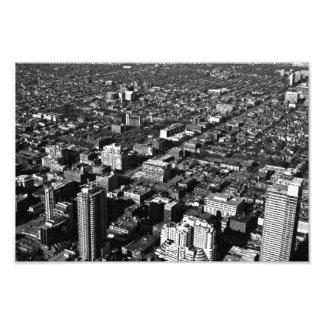 den svartvita Toronto staden fotograferar Fototryck
