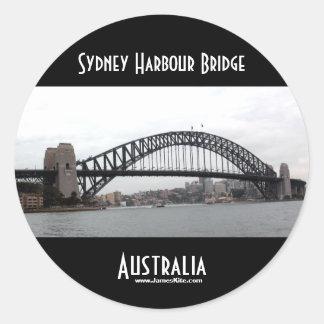 Den Sydney hamnen överbryggar Runda Klistermärken