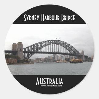 Den Sydney hamnen överbryggar Rund Klistermärke
