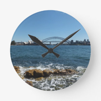 Den Sydney hamnen tar tid på Medium Rund Klocka