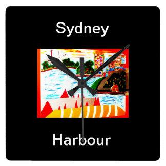 Den Sydney hamnväggen tar tid på Fyrkantig Klocka