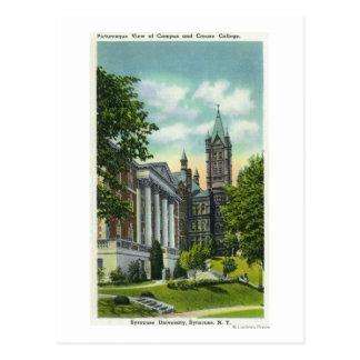 Den Syracuse U universitetsområdet beskådar den Vykort