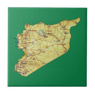 Den Syrien kartan belägger med tegel Kakelplatta