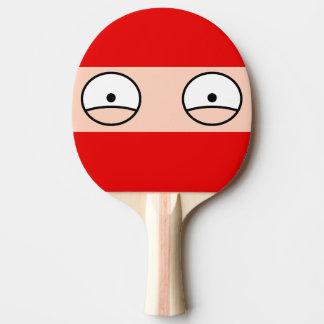 Den tecknadNinja pingen Pong paddlar (rött) Pingisracket