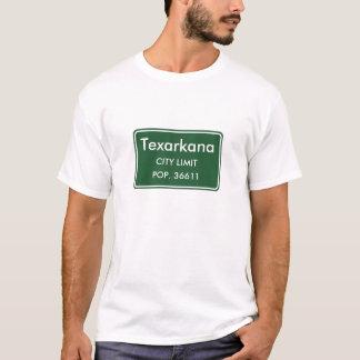 Den Texarkana Texas staden begränsar undertecknar T-shirts