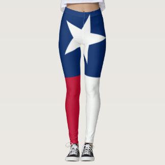 Den Texas flagga som 90 grad är full, blöder Leggings
