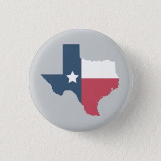 Den Texas statlig flagga klämmer fast Mini Knapp Rund 3.2 Cm