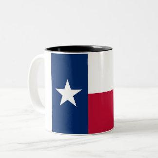 Den Texas statlig flagga Två-Tonar kaffemuggen Två-Tonad Mugg