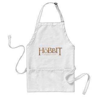 Den texturerade Hobbit logotypen Förkläde