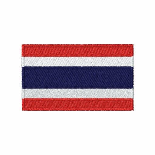 Den Thailand flagga broderade manar långärmadskjor