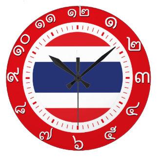 Den Thailand flagga tar tid på (numrera i Stor Klocka