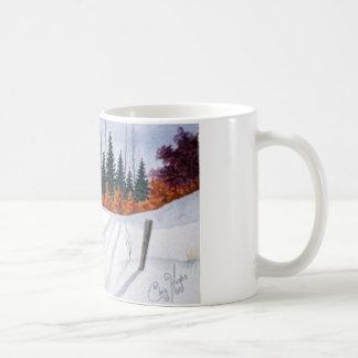 Den tidiga hösten landskap kaffemugg