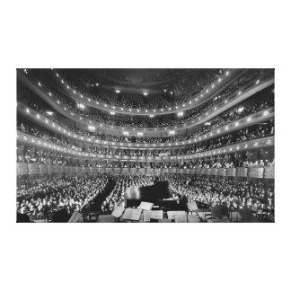 Den tidigare storstads- Sten 1937 för operahus Canvastryck