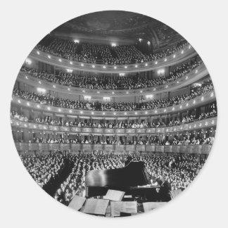 Den tidigare storstads- Sten 1937 för operahus Runt Klistermärke