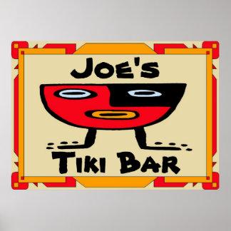 Den Tiki puben undertecknar Poster