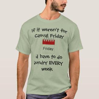 Den tillfälliga fredagen sparar tvätten tshirts