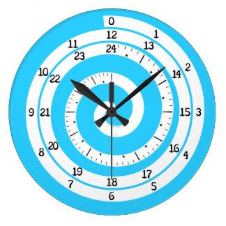 Den Time virveln tar tid på (uppfriskande blått) Stor Klocka
