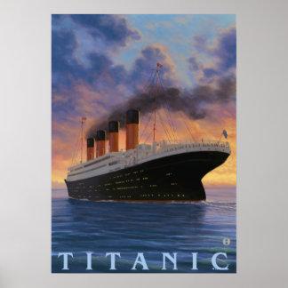 Den Titanic SceneWhite stjärnan fodrar Poster