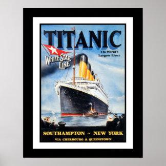 Den Titanic vitstjärnan fodrar affischen Poster