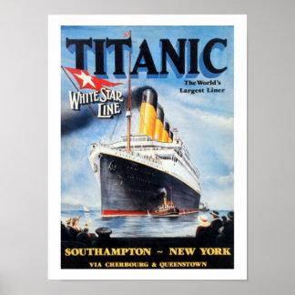 Den Titanic vitstjärnan fodrar - världens största Poster