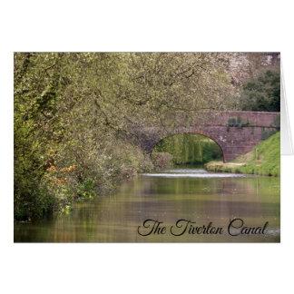 Den Tiverton kanalen, Devon, personlig Hälsningskort