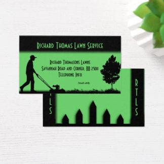 Den tjänste- gräsmatta landskap visitkorten visitkort