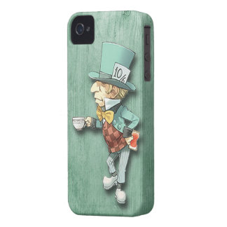 Den tokiga hatteren med en kopp av Tea iPhone 4 Case-Mate Skydd