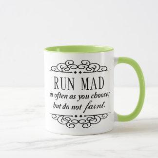 Den tokiga springan/svimmar inte den Jane Austen Mugg