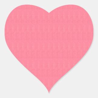Den tomma kräm- röda strukturmallen DIY tillfogar Hjärtformat Klistermärke