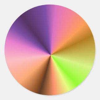 Den tomma mallen tillfogar ditt avbildar runt klistermärke