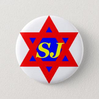 Den toppna juden klämmer fast standard knapp rund 5.7 cm