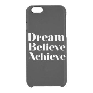 Den tro drömmen uppnår clear iPhone 6/6S skal