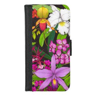 Den tropiska orchiden blommar iPhoneplånbokfodral