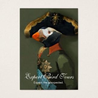 Den Tufted Puffingeneralen - fågeln vägleder Visitkort