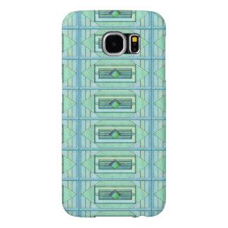 Den Turquise art déco belägger med tegel Galaxy S5 Fodral