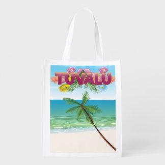 Den Tuvalu ön reser affischen Återanvändbar Påse