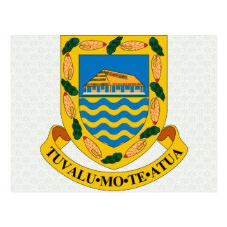 Den Tuvalu vapenskölden specificerar Vykort