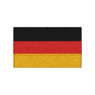 Den tyska flagga broderade manar långärmadskjortan