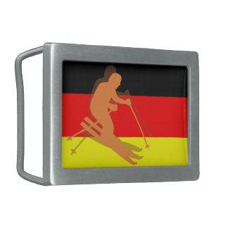 Den tyska flaggaTysklandet skidar skidåkning